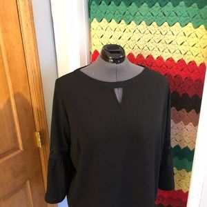 Black blouse with bell sleeves